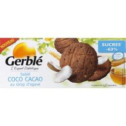Sablés coco cacao au sirop d'agave