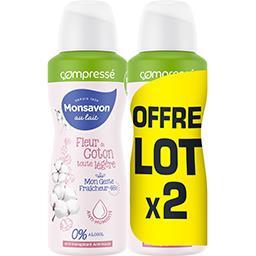 Au Lait - Déodorant compressé douceur lait & coton