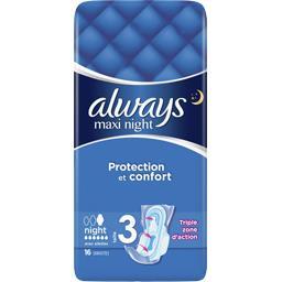 Maxi - night taille 3 - serviettes hygiéniques
