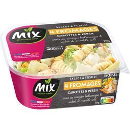 Mix Salade & Fusilli 4 fromages carottes & persil la barquette de 250 g