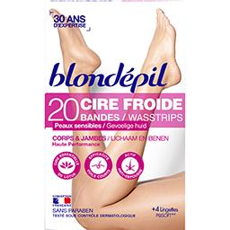 Bandes de cire froide corps & jambes