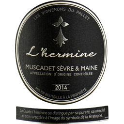 Muscadet Sèvre & Maine L'hermine, vin blanc