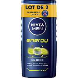 Gel douche Energy corps visage & cheveux extrait de ...