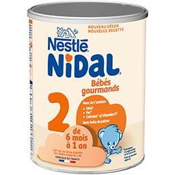 Nidal - Lait en poudre 2 Bébés Gourmands, de 6 mois ...