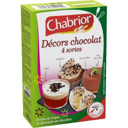 Décors chocolat 4 sortes