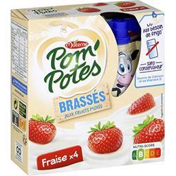 Materne Pom'potes Pom'Potes - Brassés aux fruits mixés fraise