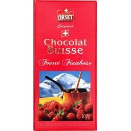 Chocolat au lait fourré à la pulpe de framboise