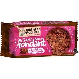 Super Cookies cœur fondant chocolat noir pépites de ...