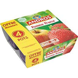 Dessert fruitier pomme fraise