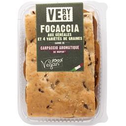 Sélectionné par votre magasin Focaccia aux céréales avec carpaccio la focaccia de 130 g