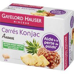Carrés Konjac ananas