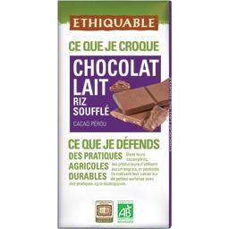 Chocolat lait riz soufflé BIO