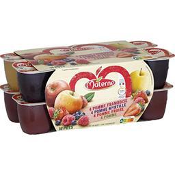 Assortiment de compote de pomme/myrtille/framboise/f...