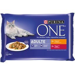 Effilés en sauce poulet et bœuf pour chats adultes