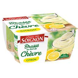 Soignon Brassé au lait de chèvre citron