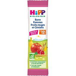Barre pommes fruits rouges et céréales BIO, dès 12 mois