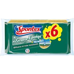 Spontex gratte eponge microfibre x6