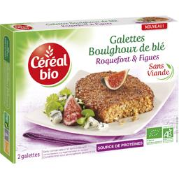 Galettes boulghour de blé roquefort & figues BIO