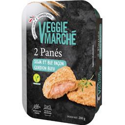 Veggie Marché Panés soja et blé façon cordon bleu la boite de 2 - 200 g