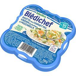Blédina Blédina  - Risotto aux courgettes saumon & mozzarel... l'assiette de 230 g