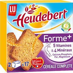 LU Heudebert Biscottes Forme+ aux céréales complètes