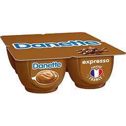 Danone Danone Danette - Crème dessert expresso les 4 pots de 125 g