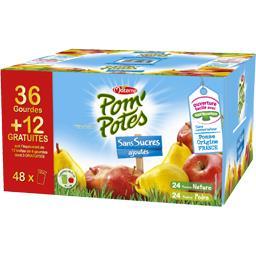 Materne Pom'Potes - Spécialité de pomme nature et pomme poir... les 36 gourdes de 90 g