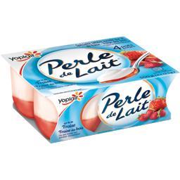 Perle de Lait - Spécialité laitière sur lit de fraise/fraise des bois