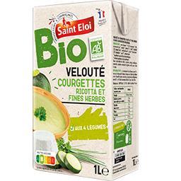 Velouté courgettes ricotta et fines herbes BIO