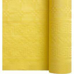 Nappe damassée 7 x 1,20 m citron