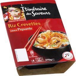 Riz crevettes sauce piquante