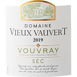 Vouvray Domaine du Vieux Vauvert vin Blanc sec 2017
