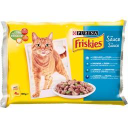 Aliment en sauce aux poissons pour chats