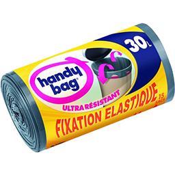 Sacs poubelle lien coulissant fixation élastique 30 ...