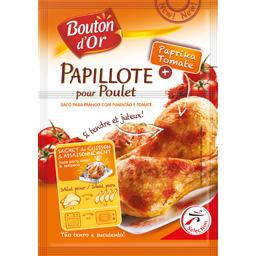 Papillote pour poulet paprika tomate