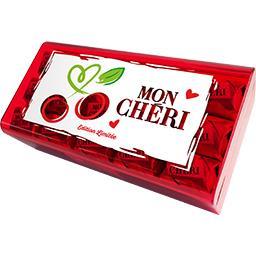 Bonbons de chocolat fourrés cerise et liqueur