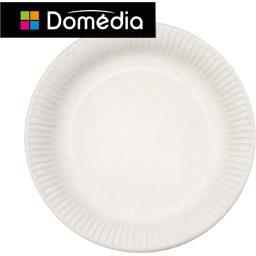 Assiettes carton diam 23 cm, blanc