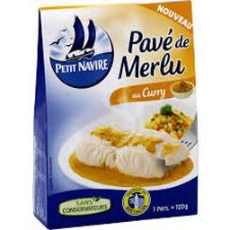 Pavé de merlu au curry