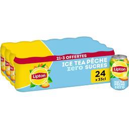 Boisson au thé pêche zéro sucres Ice Tea Lipton