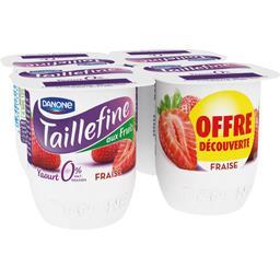 Danone Taillefine Yaourt brassé fraise 0% MG