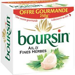 Boursin Fromage à tartiner ail & fines la boite de 250 g -