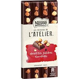 Les Recettes de l'Atelier - Chocolat noir noisettes entières