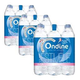 Eau minérale naturelle, les 3 packs de 6 bouteilles ...