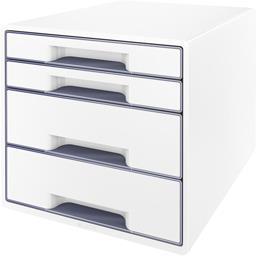 Bloc de classement Wow 4 tiroirs blanc