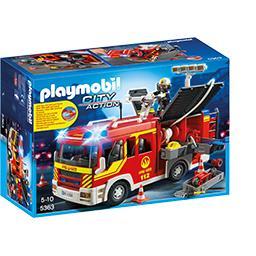 City Action - Fourgon de pompier avec sirène et gyro...