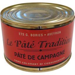 Gustave Bories Pâté de campagne Le Pâté Tradition la boite de 190 g