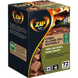 Zip Naturel allume-feux cubes x72