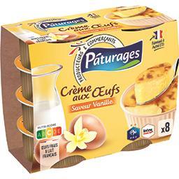Crème aux oeufs saveur vanille, aux oeufs frais, fon...