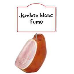 Jambon SUPERIEUR Cœur de Couenne FUME, cuit à l'étouffée