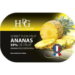 Sorbet plein fruit ananas 59% de fruit